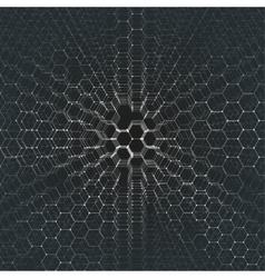 Chemistry 3D pattern hexagonal molecule structure vector