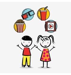 Children cinema design vector image