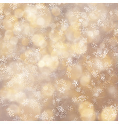 christmas and new year shimmering blur golden vector image