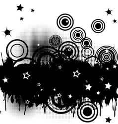 Circles and stars vector image