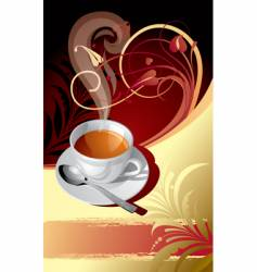 Classic background with a cup vector