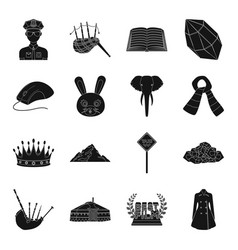 clothing animal mine and other web icon in black vector image
