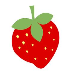 Colored strawberry vector