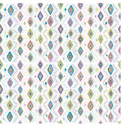 colorful rhombus seamless background vector image