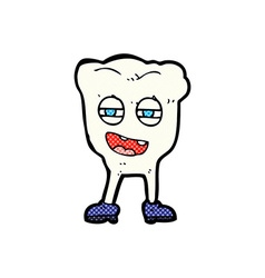 Comic cartoon funny tooth character vector