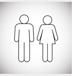 couple figure on white background vector image