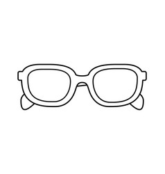 Cute sunglasses on white background vector