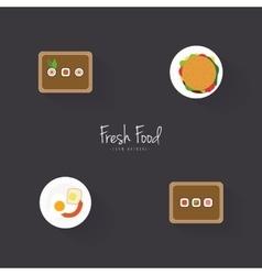 Delicuos fast food vector image