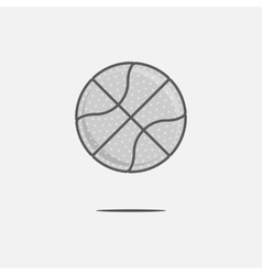 Dribbling Basketball Ball Logo vector