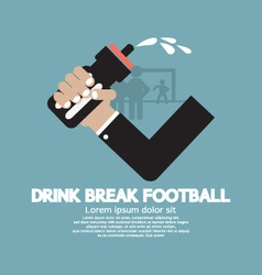 Drink Break Football vector