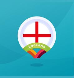 England flag map location pin european football vector