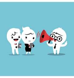 Feedback cartoon with megaphone vector image