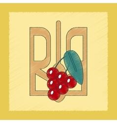 Flat shading style icon emblem ukraine vector