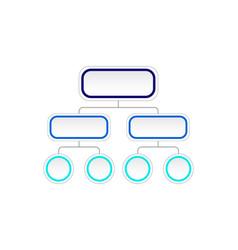 flowchart diagram vector image