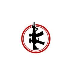 Gun template logo design template vector