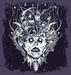 Halloween demon vector
