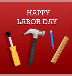 Happy labor day concept background realistic vector