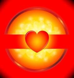 Heart Valentines day card heart bokeh b vector