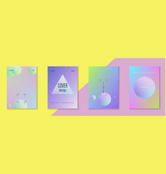 holographic cover set fluid for business vector image