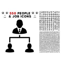 Human hierarchy icon with bonus vector
