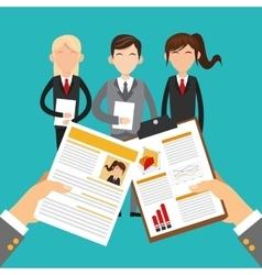 Human resources employee design vector