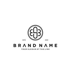 Letter esb logo design concept vector
