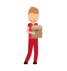 Logistics worker delivery service vector