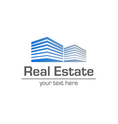 logo template real estate clean modern and vector image