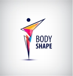 Man logo human body l vector