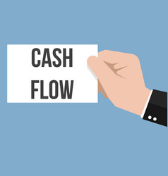 man showing paper cash flow text vector image