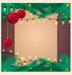 merry christmas and happy new year old vintage vector image
