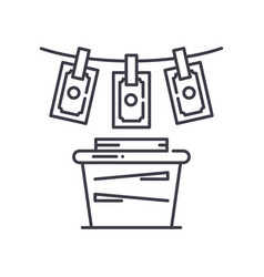 Money laundering concept icon linear isolated vector
