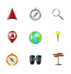 Navigation icons realistic set vector