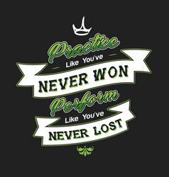 Never lost typography design vector
