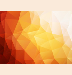 orange background low poly vector image