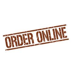 Order online stamp vector