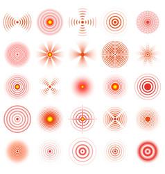 Pain circle red sonar circles human vector