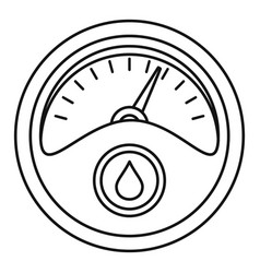 Petrol dashboard icon outline style vector