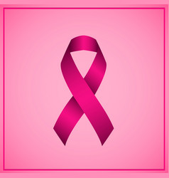 pink ribbon realistic on transparent background vector image