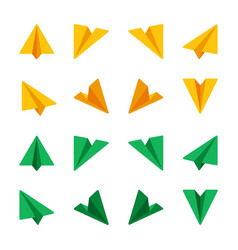 ppaper plane icon set vector image