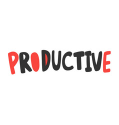 Productive sticker for social media content vector