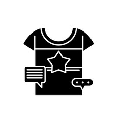 promotional clothing black icon sign on vector image