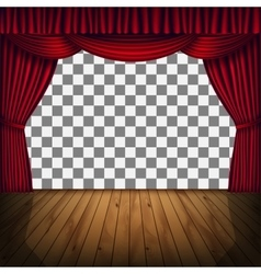 red curtain stage vector image