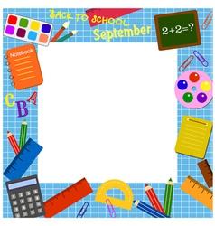 school border frame vector image