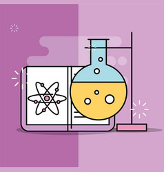 science laboratory research vector image