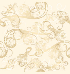 seamless wallpaper pattern with hand drawn swirls vector image