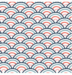 Seamless wavy doodle pattern with vector