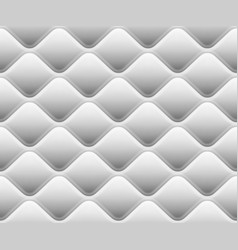 soft seamless rattern with waves in white eps 10 vector image
