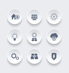 solar energy icons set alternative energetics vector image