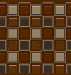 square colored glass mozaic chocolate tile vector image